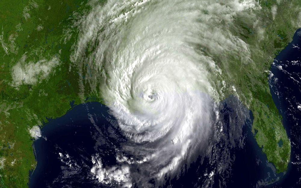 Hurricane Katrina shortly after landfall